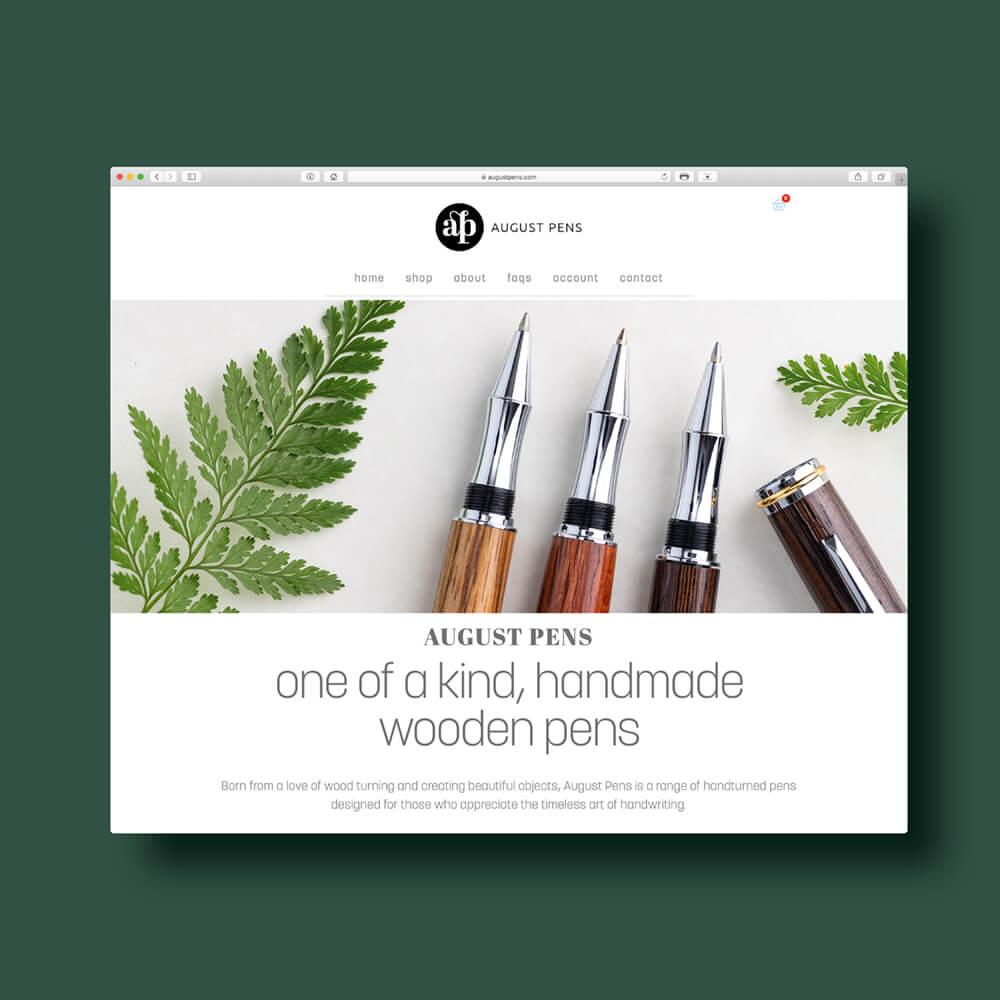 August Pens Website Design