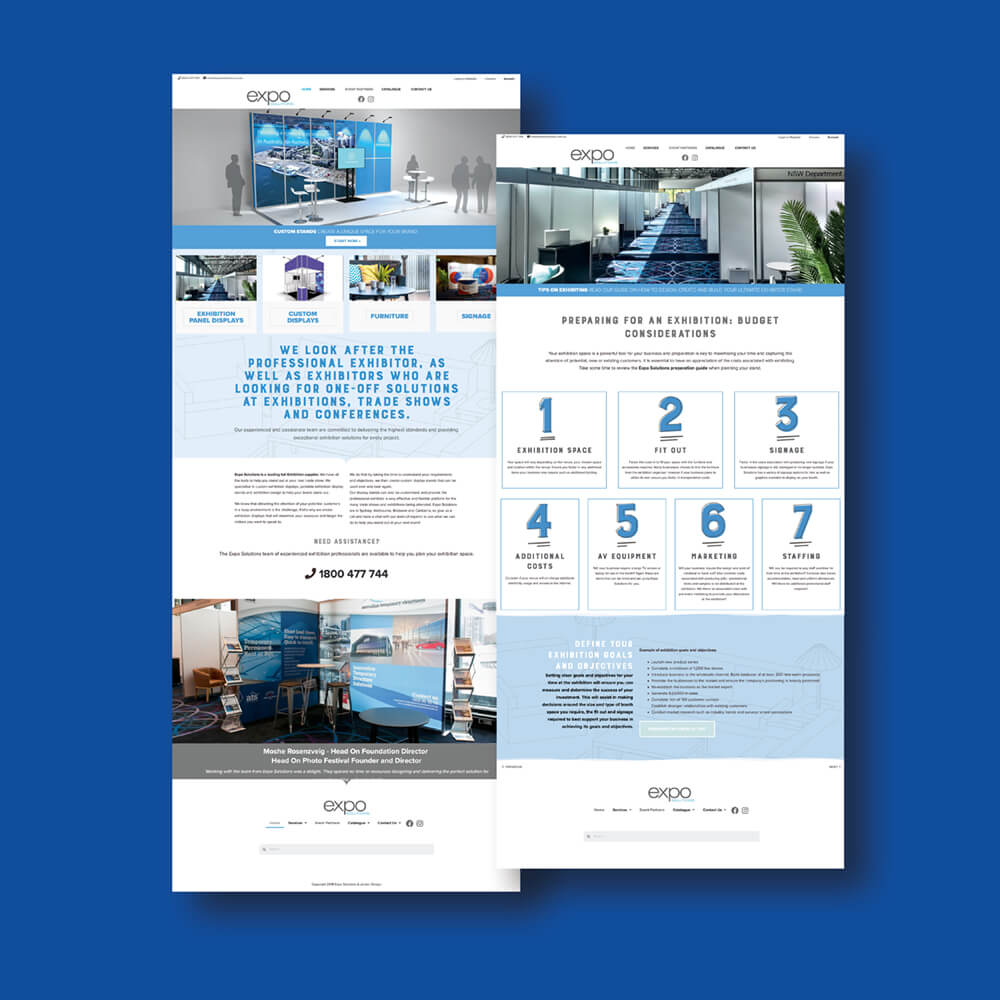 Expo Solutions website