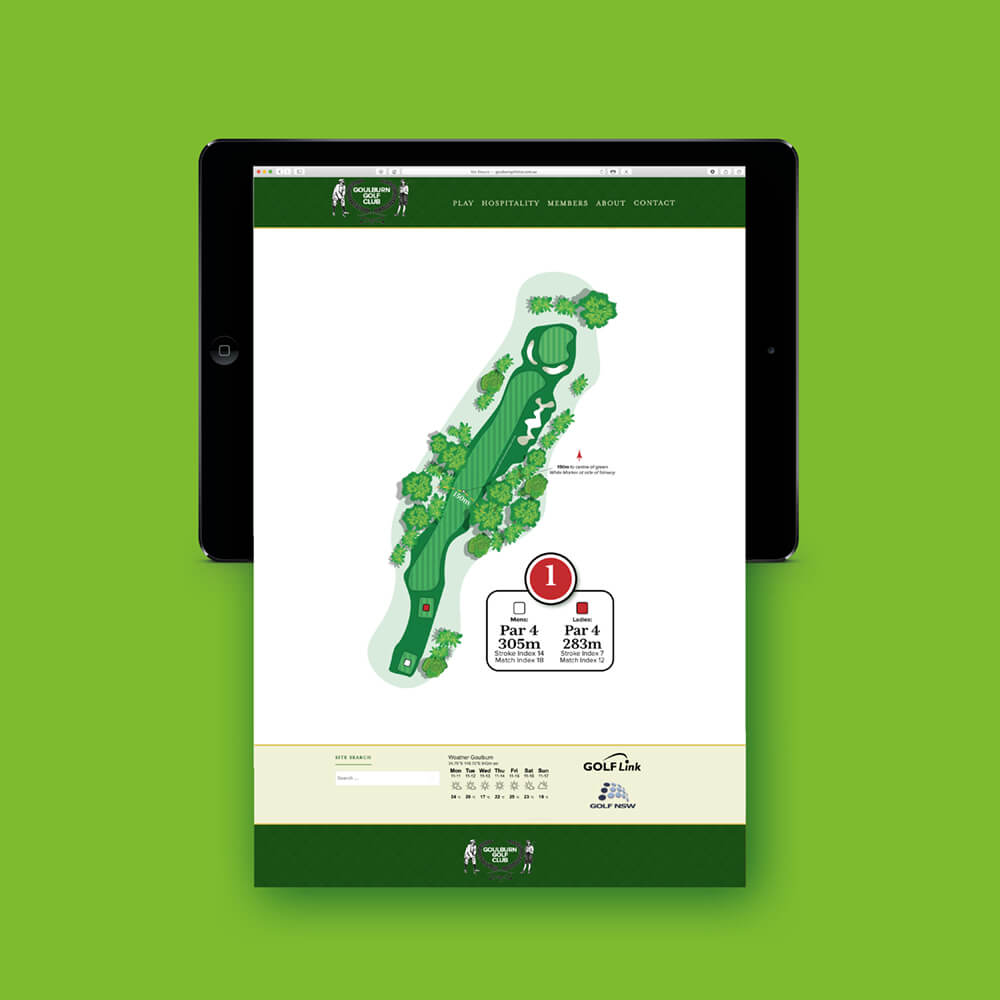 Goulburn Golf Course Hole Illustration