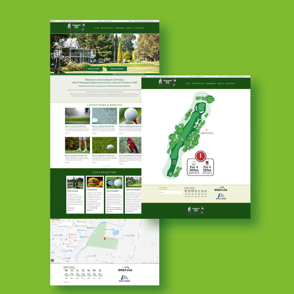 Goulburn Golf Club and Course Website