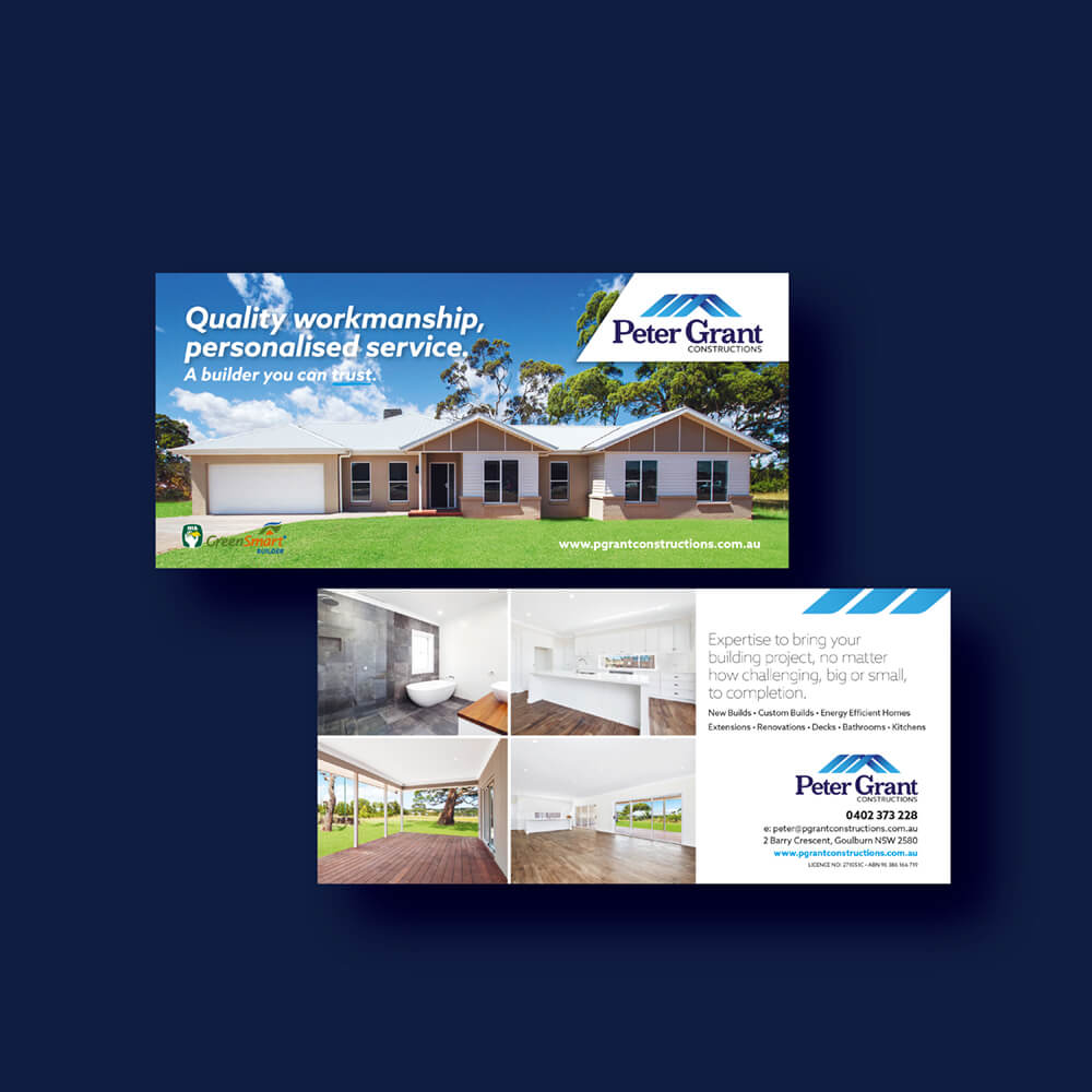 Peter Grant Constructions Flyer