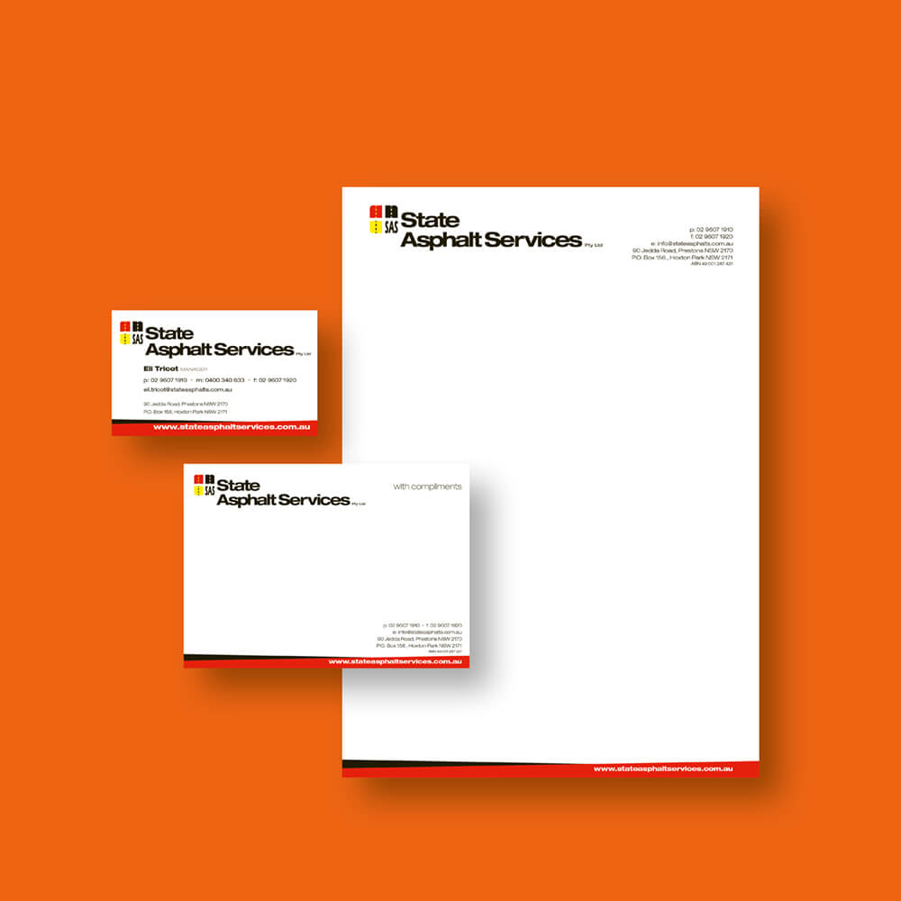 State Asphalt Services Stationery