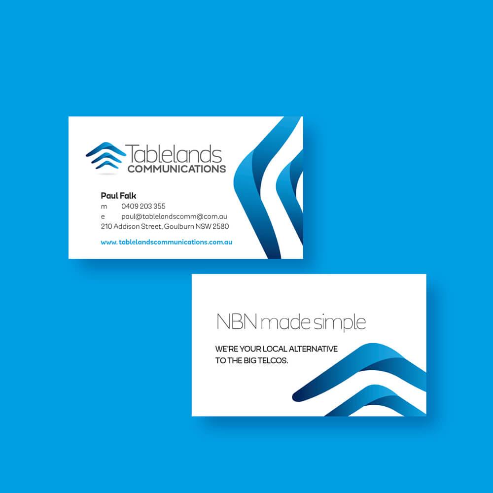 Tablelands Communications Business Cards