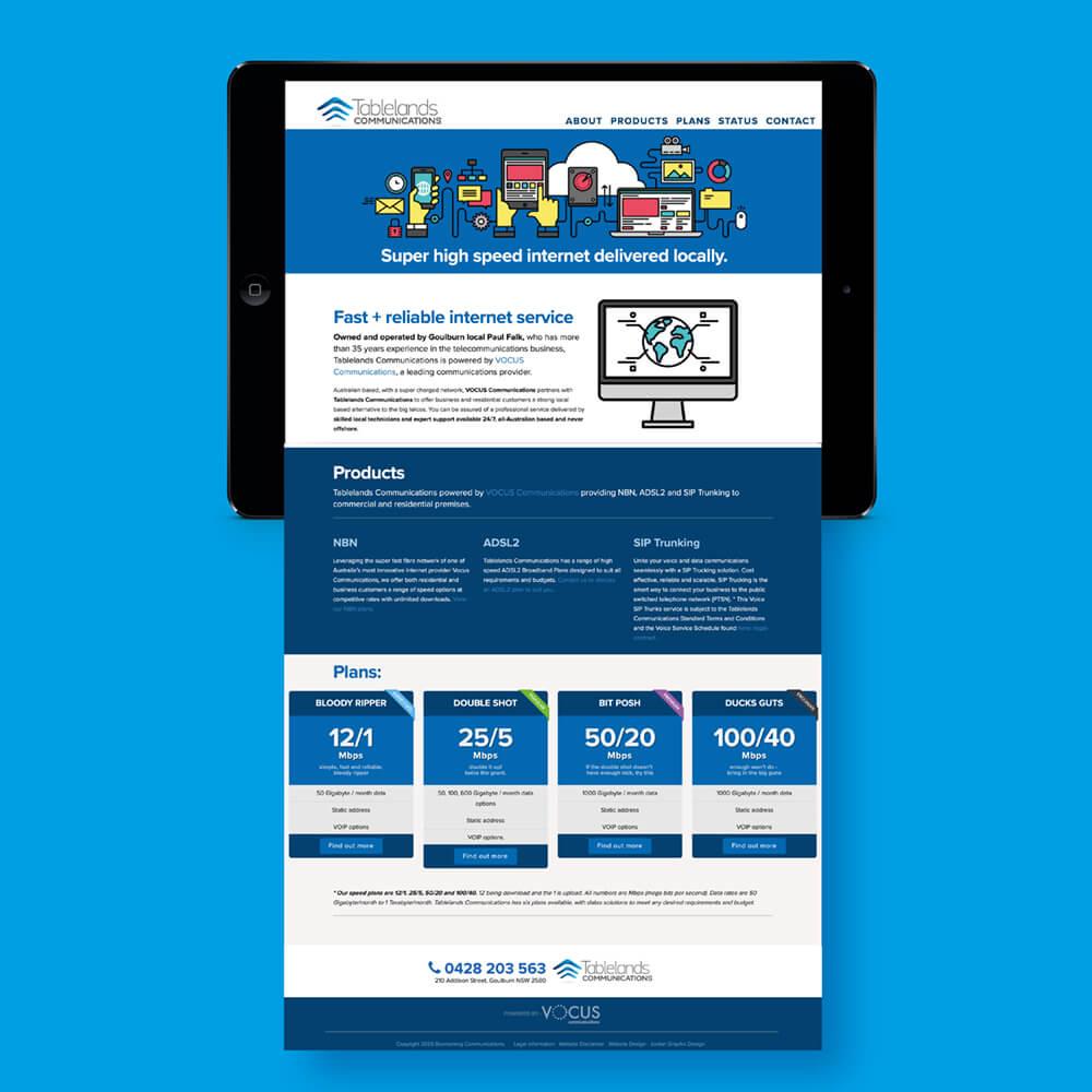 Tablet website design